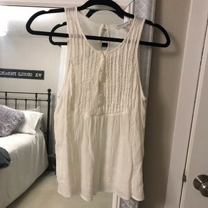 American Eagle white cream tank Medium